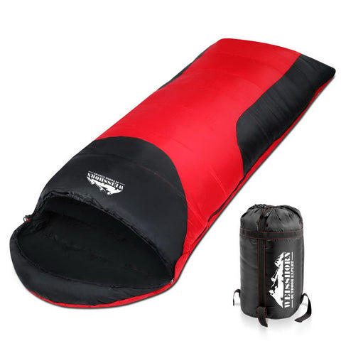 Weisshorn Single Thermal Sleeping Bags - Red & Black