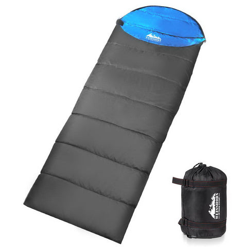 Weisshorn Single Thermal Micro Compact Sleeping Bag - Blue & Grey