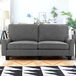 Artiss 3 Seater Sofa Suite Lounger - Grey