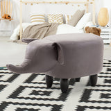 Artiss Kids Elephant Animal Stool - Grey