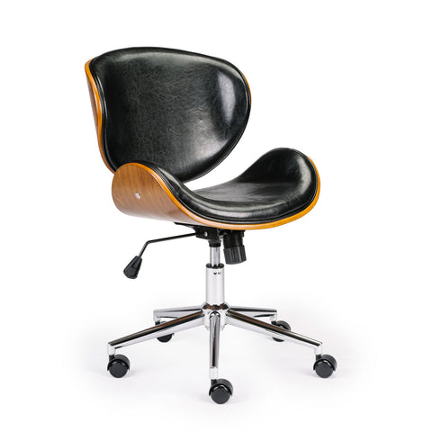 Wooden & PU Leather Office Chair Arraya Task Chair