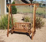 Kid Outdoor Hardwood Garden Swing