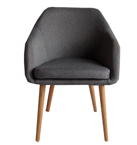 Calvin Grey Fabric Dining Chair Set 2