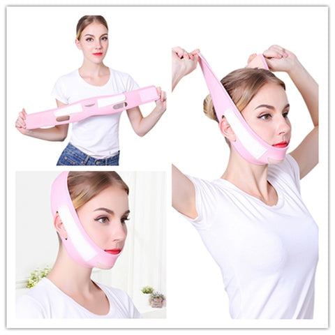 Facial Lifting Belt for Women, V-Line Chin Cheek Lift Up Band Anti Wrinkle Bandage