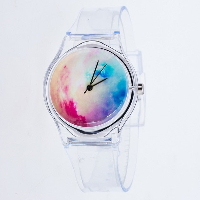 Transparent starry sky Casual Ladies Watch
