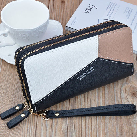 Women Long Zipper Tassel Design Clutch Wallets