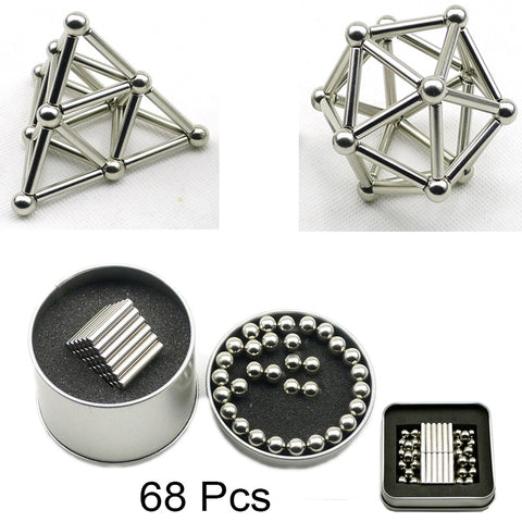68 Pcs Mini Magnetic Stick and Balls