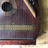 Antique Zither Instrument with Eagle Emblem (c.1920s) - Rush Creek Vintage