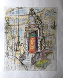 Vintage Judaica Etching of Baroque Synagogue (c.1970) - Rush Creek Vintage