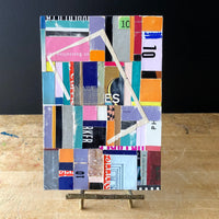 Abstract Colorful Collage Art 'Ten' - Rush Creek Vintage