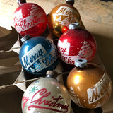 Mixed Stenciled Vintage Ornaments (c.1950s) - Rush Creek Vintage