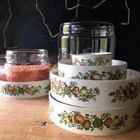 Vintage Pyrex Spice of Life Glass Canister Set (c.1970s) - Rush Creek Vintage