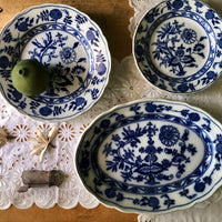 English Meissen Blue Onion China (c.1910) - Rush Creek Vintage