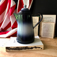 Graniteware Blue and White Coffee Pot (c.1940s) - Rush Creek Vintage