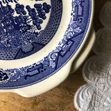 Willow Ware Cake Plates, Set of Two (c.1940s) - Rush Creek Vintage