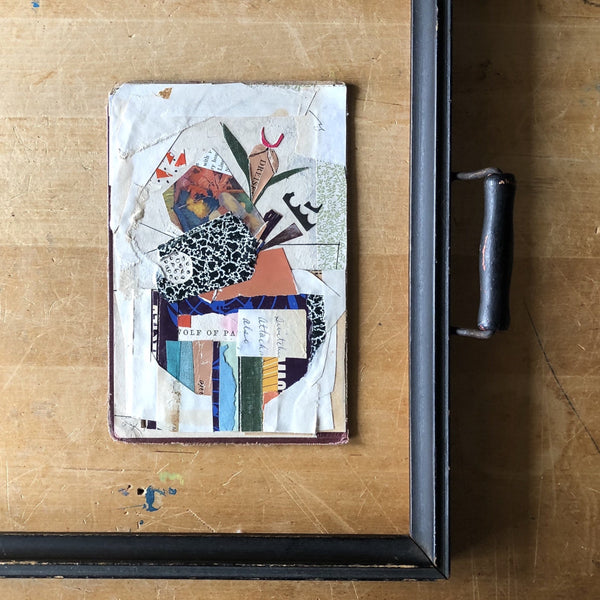 Abstract Collage Bouquet with Vintage Papers - Rush Creek Vintage