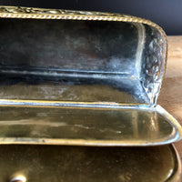 Antique Dutch Brass Candle Box (c.1800s) - Rush Creek Vintage