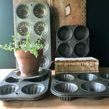 Fluted Cupcake Baking Pan Collection (from c.1940s) - Rush Creek Vintage