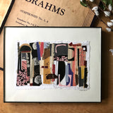 Abstract Collage with Vintage Papers, 'Abundance' - Rush Creek Vintage