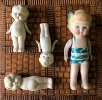 Vintage Betty Boop Style Bisque Dolls (c.1920s) - Rush Creek Vintage