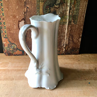 Haviland White Porcelain Pitcher (c. early 1900s) - Rush Creek Vintage