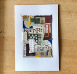 Ready to Frame Vintage Book Collage, 'Keep Fit' - Rush Creek Vintage