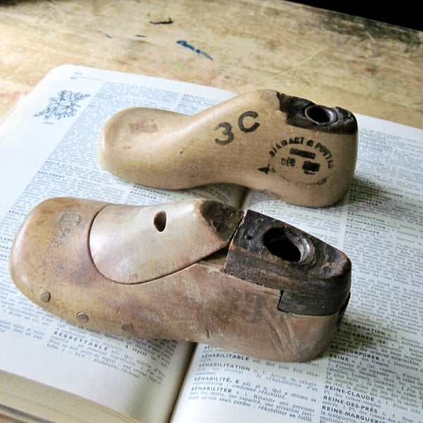 Cobbler's Antique Wooden Shoe Forms for Children (c.1800s) - Rush Creek Vintage