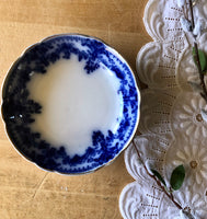Antique Flow Blue Berry Bowls by WH Grindley & Co. (c.1800s) - Rush Creek Vintage