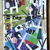 Abstract Collage Art, 'Choose Joy' - Rush Creek Vintage