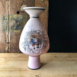 Pink Victorian Courting Couples Vase (c.1900s) - Rush Creek Vintage