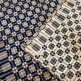 West Virginia Indigo and Cream Double Weave Coverlet (c.1800s) - Rush Creek Vintage