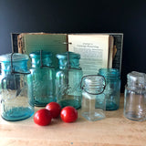 Antique Blue Ball Mason Canning Jars (c.1920s) - Rush Creek Vintage