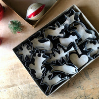 Vintage Boxed Tin Cookie Cutter Set (c.1960s) - Rush Creek Vintage