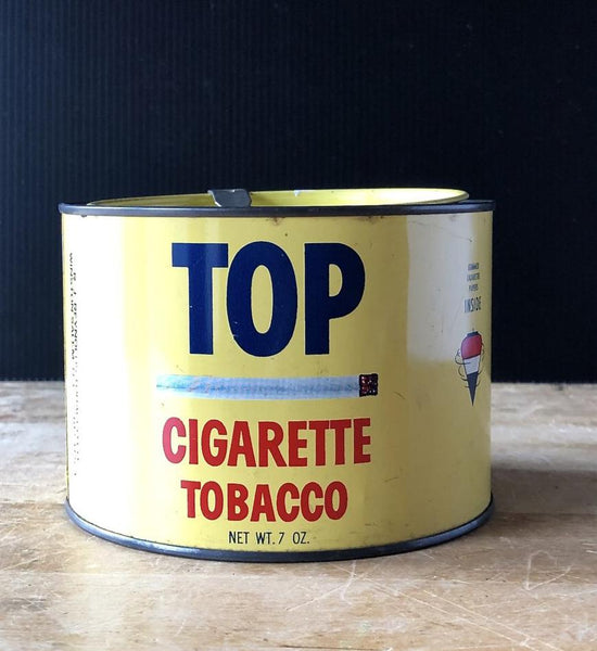 Vintage Top Tobacco Advertising Tin (c.1960s) - Rush Creek Vintage
