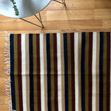 Vintage Striped Egyptian Kilim Rug (c.1980s) - Rush Creek Vintage