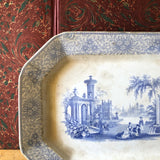 Antique Blue Transferware Platter (c.1800s) - Rush Creek Vintage