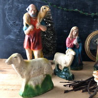Vintage Chalkware Nativity Set (c.1940s) - Rush Creek Vintage