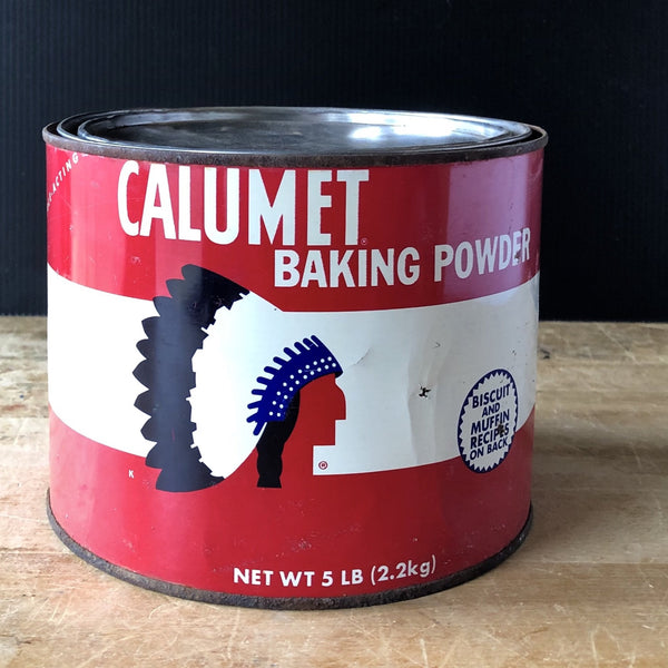 Calumet Baking Powder Vintage Advertising Tin - Rush Creek Vintage