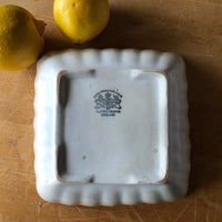 Scalloped Square Ironstone Bowl (c.1800s) - Rush Creek Vintage