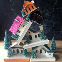 Vintage Putz Houses, Set of 6 (c.1950s) - Rush Creek Vintage