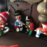 Vintage Wooden Miniature Christmas Ornaments (c.1960s) - Rush Creek Vintage