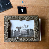 Antique Brass Tabletop Photo Frame (c.1900s) - Rush Creek Vintage