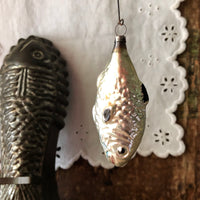 Antique German Mercury Glass Fish Ornaments (1900s) - Rush Creek Vintage