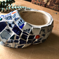 Mosaic Dutch Shoe Planter - Rush Creek Vintage