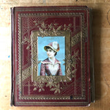 Antique Victorian Scrapbook w/ Calling Cards, Die-Cuts, Etc. (c.1800s) - Rush Creek Vintage
