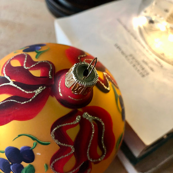 Hand Painted Italian Holiday Ornament (c.1980s) - Rush Creek Vintage