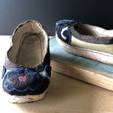 Chinese Embroidered Silk Manchu Shoes (c.1800s) - Rush Creek Vintage