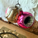 Antique Pink Glass Christmas Ornaments (c.1900s) - Rush Creek Vintage