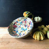 Mid Century Green Mosaic Bowl - Rush Creek Vintage