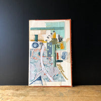 Abstract Paper Collage 'Grand Canal' - Rush Creek Vintage